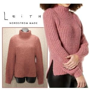 🆕Thick Knit Mock Neck Side Split Sweater by Leith